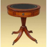 Кофейный стол Round Drum Table With Leather