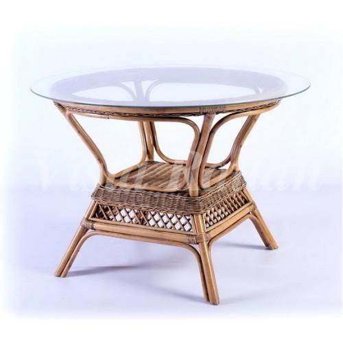 Обеденный стол со стеклом  New Orleans