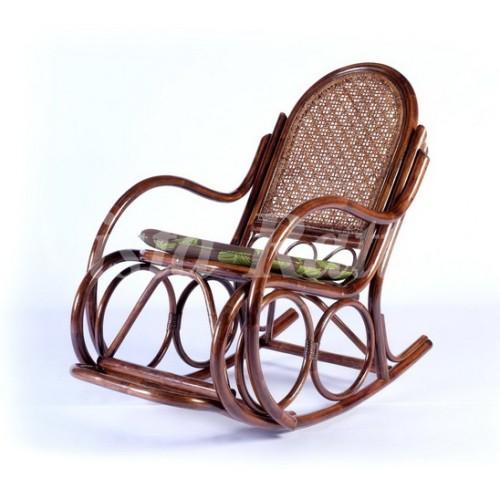 Кресло качалка с подушкой на нижнее сиденье LC