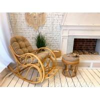 Кресло качалка со сплошной подушкой